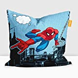 #8: Disney Spiderman Digital Printed Cushion Filled with Microbeads - Pack of 1 (14