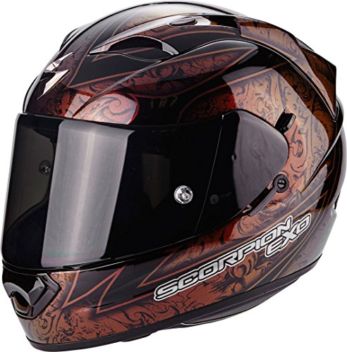 Scorpion Helm Motorrad exo-1200Air Fantasy, black/red/Chameleon, SM