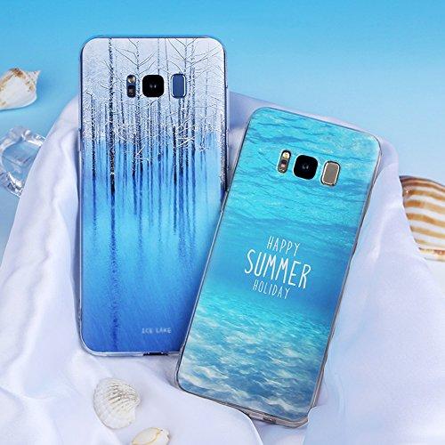 Samsung Galaxy S8 Plus (6,2 zoll) Schutz Hülle Case in wunderschönem Design Weiches transparentes TPU Landschaft Handyhülle Fische Fish Handy Etui mit Motiv Gel Bumper Natur Scenery Soft Case hochwert Pattern 05