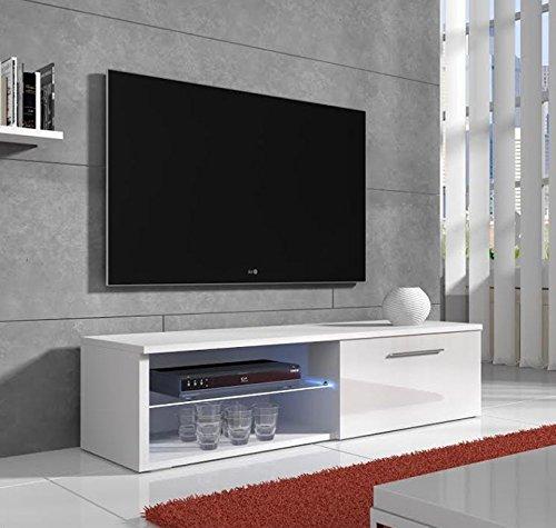 Lettiemobili –Mobile TV modello Cozumel bianco con LED (100cm)