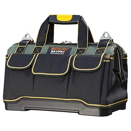 Hwint Tool Bag Dicker Kunststoffboden 1680D wasserdichtes Oxford-Tuch mit stabilem Kunststoffgriff (M16) -
