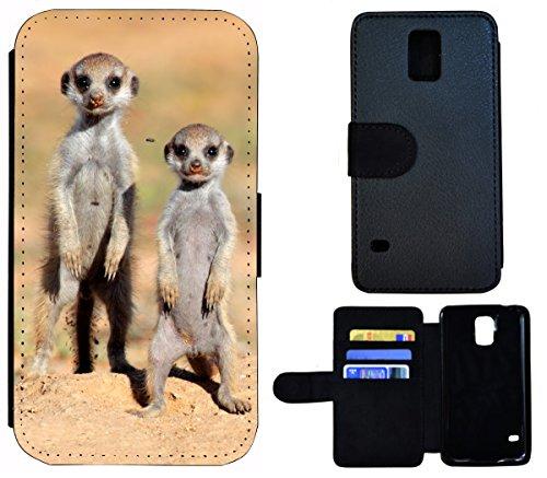 Flip Cover Schutz Hülle Handy Tasche Etui Case für (Apple iPhone 6 / 6s, 1431 Erdmännchen Wüste Tier Animal) 1430 Erdmännchen Wüste Tier Animal