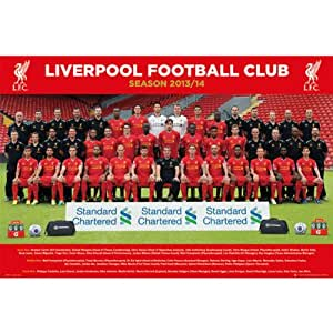 gb eye maxi poster con foto squadra liverpool stagione 13 14 61 x 91 5 cm casa e. Black Bedroom Furniture Sets. Home Design Ideas