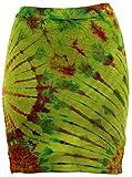 Guru-Shop Batikrock, Hippie Batik Minirock, Yogarock, Yogarock, Damen, Lemon, Synthetisch, Size:36, Kurze Röcke Alternative Bekleidung