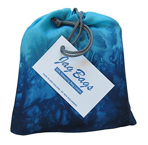 JagBag Standard Pure Silk Sleeping Bag Liner (Turquoise)