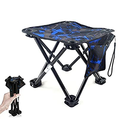 GXL Folding Chair, Foldable Camping Fishing Chair, Oxford Waterproof Outdoor Folding Chair, Fast Folding Chair Stool Flat Foot Stability and Carrying Bags, Suitable for Outdoor Activities Fishing Hiking from GXL