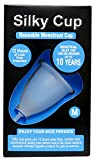 #2: Silky Cup - Reusable Menstrual Cup Size M (Medium) For Women Upto The Age of 30 Years (Sanitary Napkins And Tampons Alternative) ISO 10993 Tested