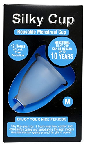 Silky Cup – Reusable Menstrual Cup Size M (Medium) For Women Upto The Age of 30 Years (Sanitary Napkins And Tampons Alternative) ISO 10993 Tested