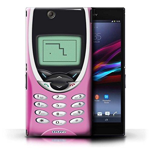 Coque en plastique pour Sony Xperia Z Ultra Collection Portables rétro - Nokia 8210 vert Nokia 8210 rose