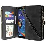 Cmid LG K40 Case, Premium Leather Flip Zipper Wallet Case