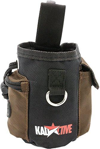 Kadactive Futterbeutel für Hunde und Pferde - Futtertasche für Hundetraining und Ausbildung - Wasserfest und abwaschbar (schwarz/braun)