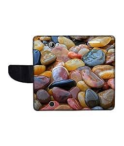KolorEdge Printed Flip Cover For Acer Liquid Z530 Multicolor - (1478-50KeMLogo10358AcerZ530)