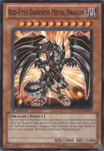 Yugioh Dragons Collide Single Card Red-Eyes Darkness Metal Dragon SDDC-EN013 Common by Yu-Gi-Oh! (Eyes Red Dragon Darkness Metal)