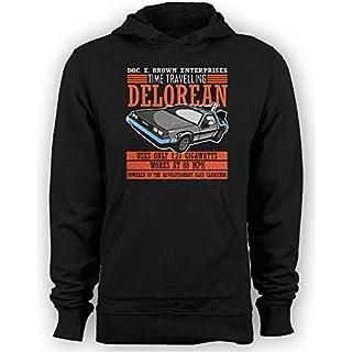 Meta Cortex T-shirts Zurück in die Zukunft–Doc E. Brown Enterprises Zeit Reisen Delorean Hoodie Gr. X-Large, schwarz