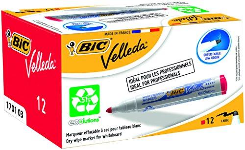 bic-velleda-marqueur-effacable-a-sec-pour-tableau-blanc-pointe-ogive-encre-a-base-dalcool-rouge-lot-