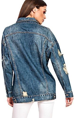 Women's Ladies Gorgeous Glam Oversized Denim Jacket Denim