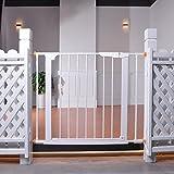 Extra Breites Baby-Tor Mit Tür Für Treppen Mit Geländern Und Wanddruck Haustür 75-103cm Des Breiten Weißen Metalls (größe : 96-103cm)