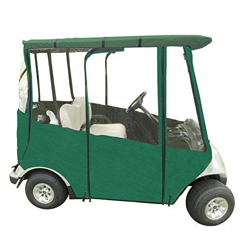 Golf-Abdeckung, tragbar, für Yamaha Drive & Drive 2 - 17,8-182,9 cm Dach - Regenabdeckung für Golfer - Schwarz - Hellbraun - Blau - Grün - inkl. Reisetasche (Forest Green - Marine Grade Vinyl) -