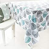 GWELL Tischdecke Eckig Abwaschbar Oxford Tischtuch Pflegeleicht Schmutzabweisend Farbe & Größe wählbar Muster-C 140 * 180cm - 3