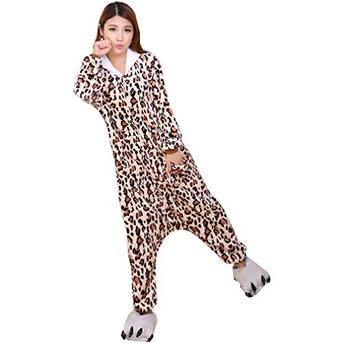 WTUS Kigurumi Unisex Adulto Cosplay Halloween Costume Animale Pigiama marrone1
