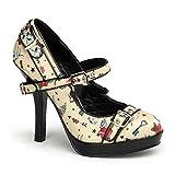 Pin Up Couture - Zapatos de vestir para mujer Beige beige 39 (US-9)