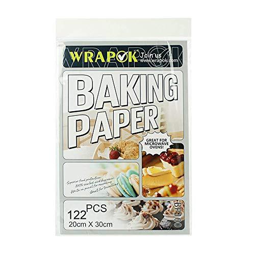 WRAPOK Pergamentpapier Antihaft Backen Plätzchen Blätter Vorschnitt Pergament Papier Pan Liner Für Kochen Kuchen Küchen 8 x 12 Zoll 122 Stück - 60 Papier Lb
