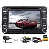 7inch Digital Screen WinCE Headunit 2din in der Schlag Auto-DVD-Spieler CANBUS Autoradio Bluetooth Stereo-FM-AM RDS Empf?nger GPS Navigation BT Multimedia f¨¹r VW Volkswagen Golf SAGITAR JETT PASSAT SKODA + Free Karte Card + Free Wireless-Kamera