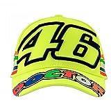 Valentino Rossi VRMCA305028, Cappellino Adulto VR46 Stripes Giallo Fluo Uomo, Taglia Unica