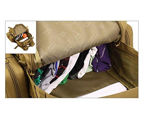 Protector Plus 50 Liter Rucksack Taktischer Rucksack Militär Rucksack Tasche für Jagd Schießen Camping Wandern Trekking Reisen D