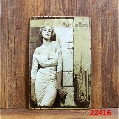 Cartel de chapa Placa metal tin sign retro nostálgico metalicas Marilyn Monroe Sexy