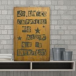 Cuadros con frases optimistas y de estilo vintage ideales para regalar.