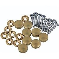 Yibuy Furniture Decor Cobre Golden Redondo Tornillo Capnails para Espejo Mesa, 0.47 x 0.18 Inch(Dia x H)