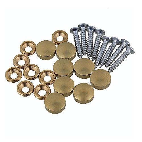 8 stück Wohnkultur Schränke Dekorative Spiegel Tisch Kupfer Runde Schraubverschluss Nägel 12mm Goldene (12 Runden Tisch Spiegel)