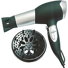 Jocca 6508N - Secador de pelo, color plateado y negro