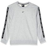 Nike Women's CREW LOGO TAPE Sweatshirts, Red (Indigo Force/university Red ), Medium (NKAR3054)