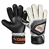 Puma One Protect 3 JR, Goalkeeper Gloves Unisex Adulto, Black-Silver White-Shocking Orange, 5