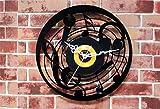 Moderno Orologio 3D Musica Microfono Nero Muro da parete a parete a muro