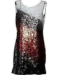 REPLAY Damen Kleid mit Pailletten W9953 Mehrfarbig