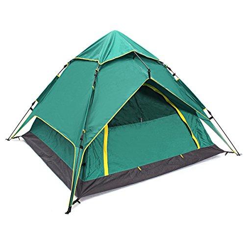 Preisvergleich Produktbild LaDicha 4 Person Large Camping Zelt Wasserdicht Instant Pop Up Wandern Angeln Strand Familienzelt