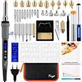 Fuyit Fire Painting Soldering Iron Set 42 Pieces 60W-90W Digital Soldering Station LED Display Adjustable Temperature 180°C - 480°C for Wood, Leather Engraving Sculpture Wood Burning and Welding Repair