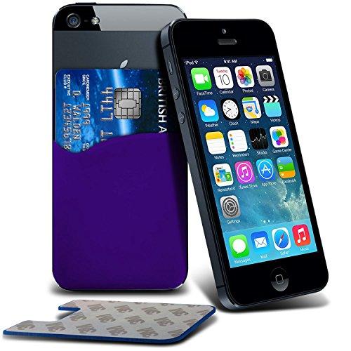 Price comparison product image Fone-Case ( Purple ) HTC One X9 Case Brand New Luxury 3M Silicone Adhesive Smart Credit / Debit Card Pouch