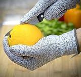 Schnittschutzhandschuhe,IMLEZON (2 Paar) Schnittschutz-Handschuhe Extra Starker Level 5 Schutz lebensmittelecht schnittfeste Handschuhe (Großer )