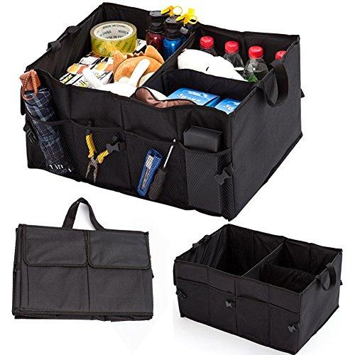 Aiooy Auto Kofferraumtasche, Faltbare Autotasche Aufbewahrung Taschen, Auto Boot Organizer Box, Shopping Ordentlich Aufbewahrungstasche (Schwarz) (Boot-box)