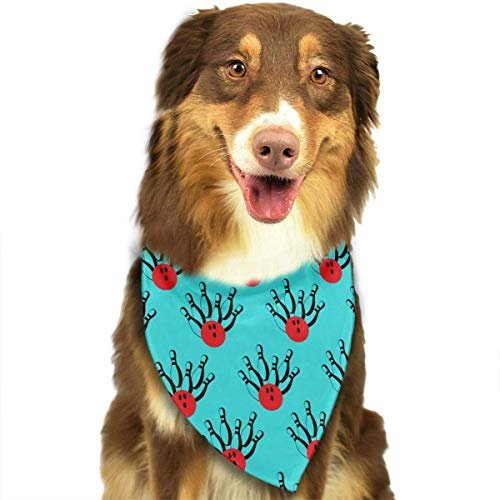 Sdltkhy Bowling Pins Balls Pet Dog Cat Bandanas Triangle Bibs Pet Scarf Dog Neckerchief Headkerchief Pet - Bowling Ball Und Pin Kostüm