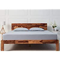 Wakefit Andromeda Sheesham Bed (Queen Size Bed), Solid Wood Double Bed