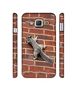 Casotec Squirrel Climbing Wall Design 3D Printed Hard Back Case Cover for Samsung Galaxy J2