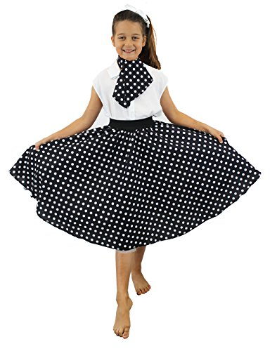 I Love Fancy Dress. ilfd7079 Disfraces de niña con Falda de Lunares Larga (Talla única)