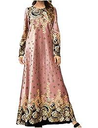 zhxinashu Vestiti Musulmani Gonna Lunga Abiti Femminili Abaya Islamico Abiti  da Donna Inverno Caldo Arabo Costume 96ebd8b5e08