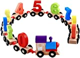 #4: Mayatra's Children Wooden Digital Small Train 0-9 Number Educational Toys (Multicolor)