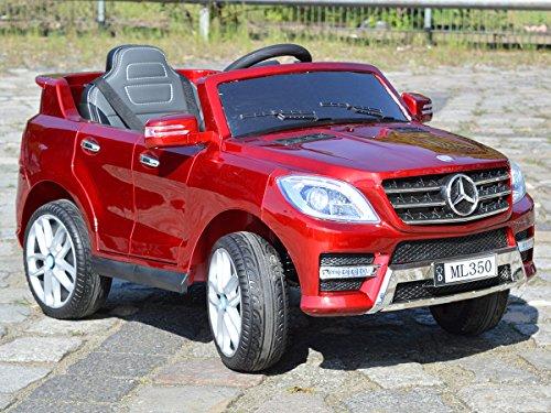 Mercedes Benz ML 350 Kinder Elektro Auto - Original Lizenz Daimler - Vollausstattung - LED Beleuchtung - Vollgummi - USB - Bluetooth - Kinderauto